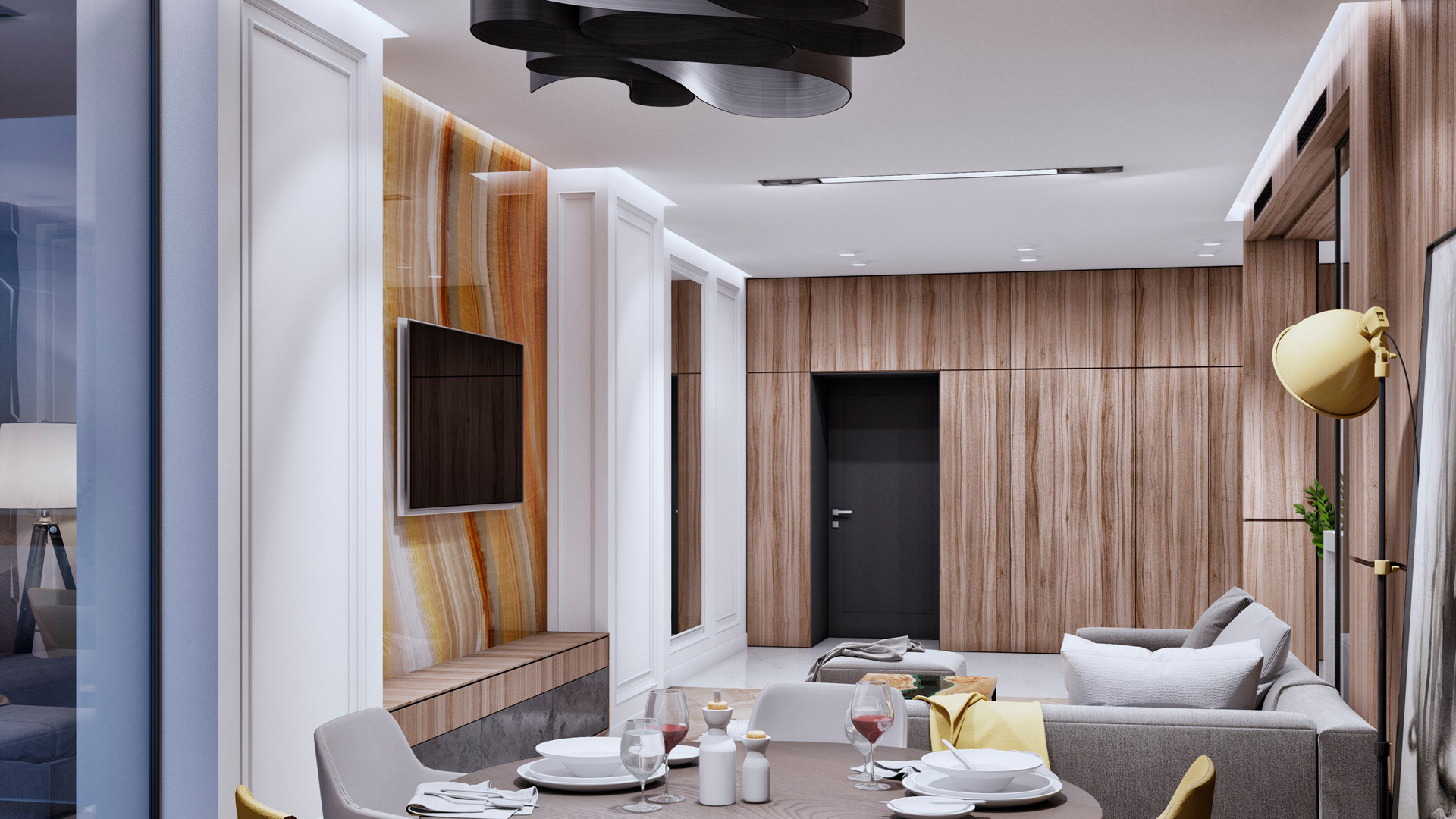 Interior design two-bedroom apartment