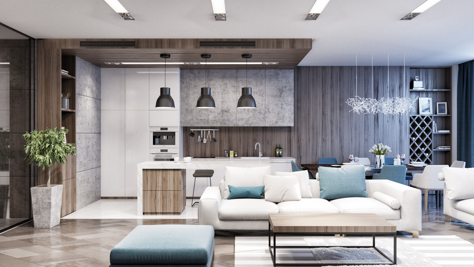 """Design of apartments in """"Sherwood"""""""