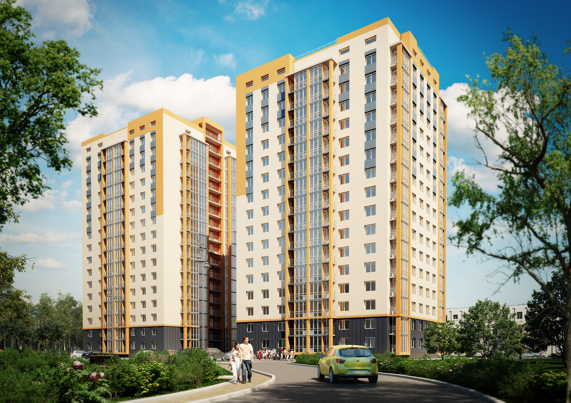Social housing project in Obolon district of Kyiv
